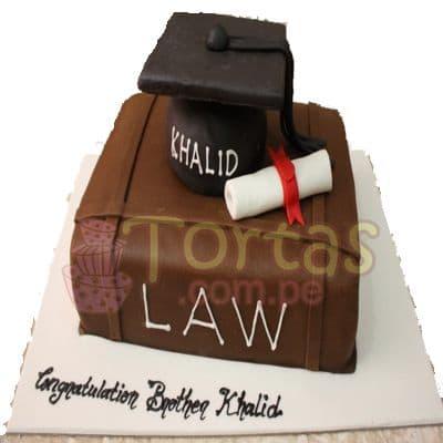 Torta para Abogado en su graduacion - Cod:TAG02