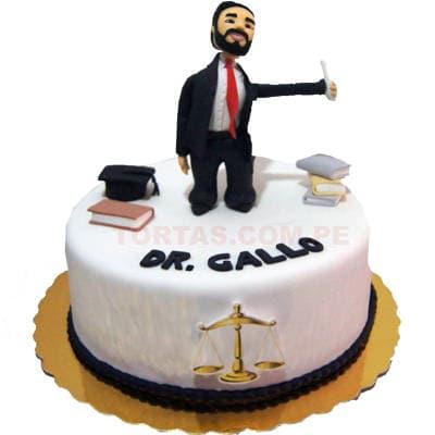 Torta Abogado con muñeco | Tortas abogados - Cod:TAG09