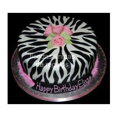 Torta con tematica Animal print - Whatsapp: 980-660044