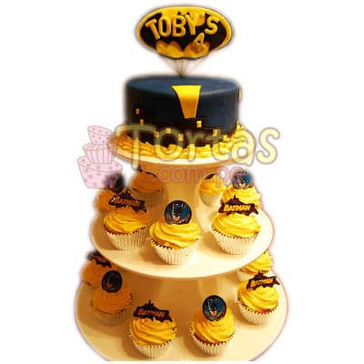 Torta deluxe Batman 04 - Whatsapp: 980-660044