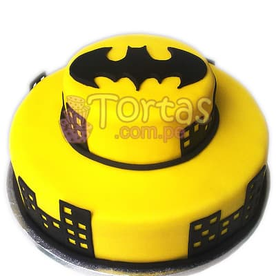 Torta de dos pisos Batman 05 - Whatsapp: 980-660044