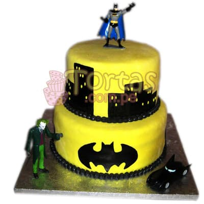 Torta Batman 08 - Whatsapp: 980-660044