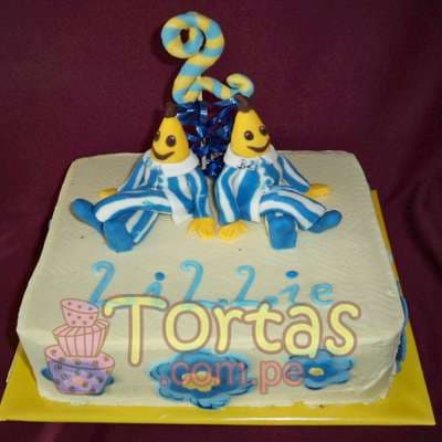 Pastel de Bananas en Pijamas | Tortas Bananas en Pijamas - Cod:TBP03