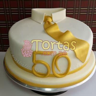 I-quiero.com - Torta 50 a�os 09 - Codigo:TCS09 - Detalles: Delicioso queque De Vainilla   forrada en masa el�stica. Medidas: 20cm de di�metro, dise�o seg�n imagen - - Para mayores informes llamenos al Telf: 225-5120 o 476-0753.