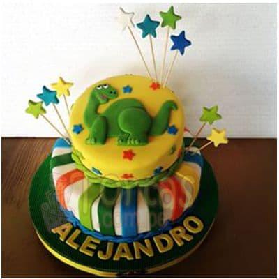 Torta tematica de Dinosaurio  - Whatsapp: 980-660044