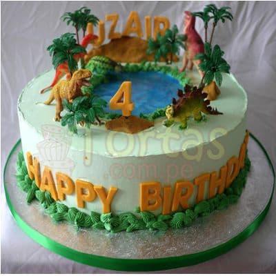 Torta Dinosaurio | Pastel de Dinosaurio - Cod:TDN03