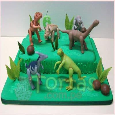 Torta con Dinosaurio  - Cod:TDN04