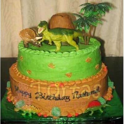 Torta en forma de Dinosaurio  - Cod:TDN05