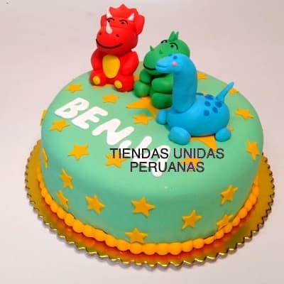 Torta Dinosaurio 3d - Cod:TDN06