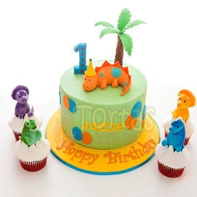 Torta Dinosaurios para Niños | Torta del tema Dinosaurio  - Whatsapp: 980-660044
