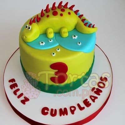 Torta Jurasica | Tortas de dinosaurios Sencillas - Whatsapp: 980-660044