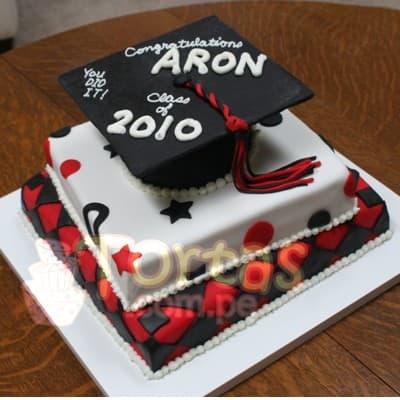 Torta de Graduacion de bachiller | Tortas - Cod:TGR01