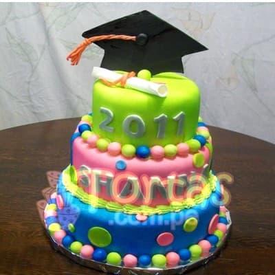 Torta de Graduacion Universitaria | Tortas de Graduacion de Bachiller - Cod:TGR02