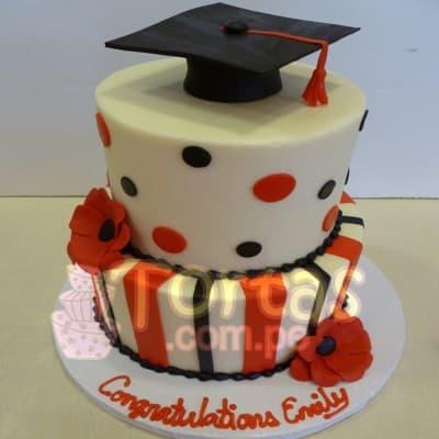 Torta de Graduacion para mujer | Torta de Graduacion | Tortas para Promocion - Cod:TGR11