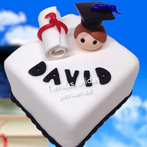 Tortas para Graduacion Colegio | Regalos de Graduacion | Torta de Grado - Cod:TGR15