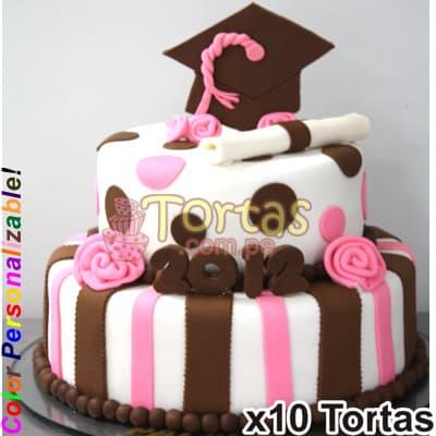Tortas de Graduacion Especiales | Pastel de Graduacion para Mujer - Cod:TGR18