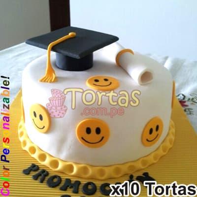 Tortas para Graduacion Especiales | Tortas de Graduacion de bachiller para Mujer - Cod:TGR20