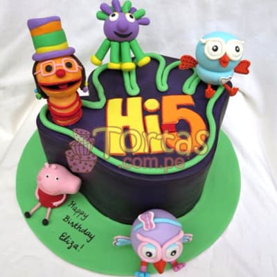 Torta tematica Hi5  - Cod:THI03
