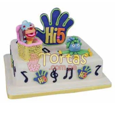 Pastel de tematica Hi5 | Delivery de de tortas en Lima | Envío de tortas en Lima Perú - Cod:THI05