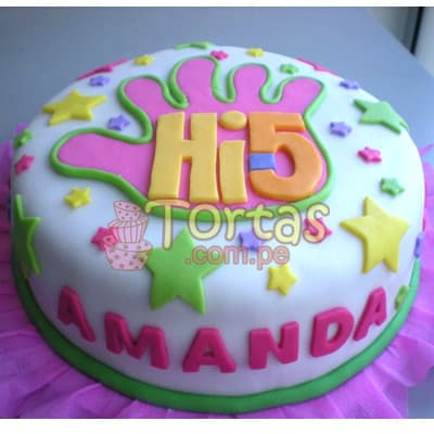 Pastel de Tematica Hi5 | Delivery de de tortas en Lima | Envío de tortas en Lima Perú - Cod:THI06