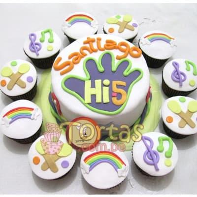 Torta Hi5 redonda - Whatsapp: 980-660044