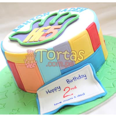 Torta Hi5 mediana- Whatsapp: 980-660044