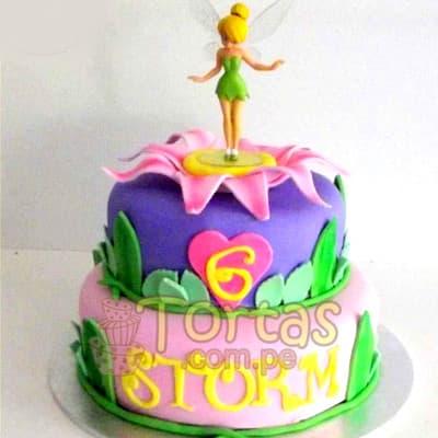 Torta Campanita | Pastel de Tinkerbell | Tortas | Pastel de Campanita - Cod:TKB04