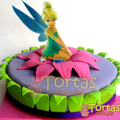 Torta de campanita | Pastel de Tinkerbell | Tortas | Pastel de Campanita - Cod:TKB05