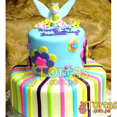 Torta Campanita 2 pisos | Pastel de Tinkerbell | Tortas | Pastel de Campanita - Whatsapp: 980-660044