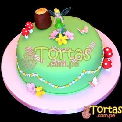 Torta temática Campanita | Pastel de Tinkerbell | Tortas | Pastel de Campanita - Cod:TKB08