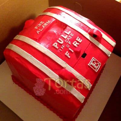 Torta Bombero | Torta bombero | Tortas de bomberos | Pastel de bombero - Cod:TMB01