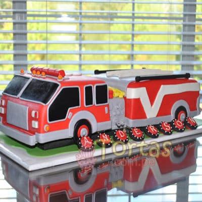 Torta del tema de bomberos - Cod:TMB03