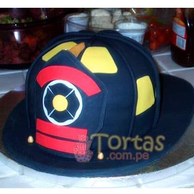 Torta de tematica de bombero | Torta bombero | Tortas de bomberos | Pastel de bombero - Cod:TMB04