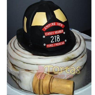Pastel de bombero | Torta bombero | Tortas de bomberos | Pastel de bombero - Cod:TMB05