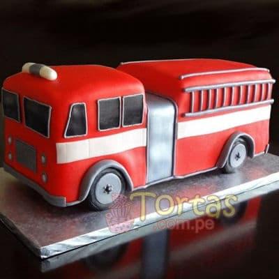 Torta bombero Grande | Torta bombero | Tortas de bomberos | Pastel de bombero - Cod:TMB09