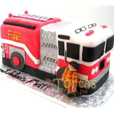 Torta bomberos | Torta bombero | Tortas de bomberos | Pastel de bombero - Cod:TMB11