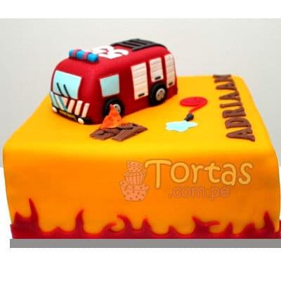 Torta bombero 13 | Torta bombero | Tortas de bomberos | Pastel de bombero - Cod:TMB13