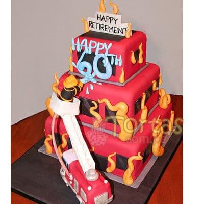 Torta bombero 15 | Torta bombero | Tortas de bomberos | Pastel de bombero - Cod:TMB15
