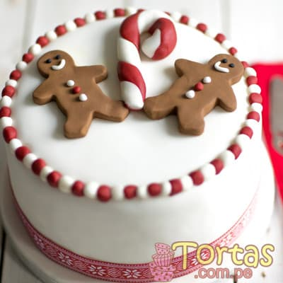 Torta de Navidad | Torta Hombre de Gengibre - Cod:TNA01