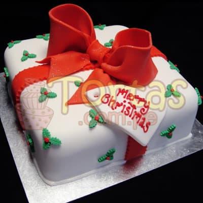 Torta de Navidad - Caja de Regalo - Cod:TNA02