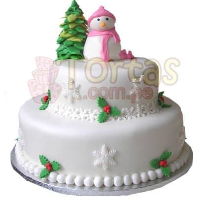 Torta de Navidad | Torta Muñeco de Nieve | Regalos de Navidad para sorprender - Cod:TNA07