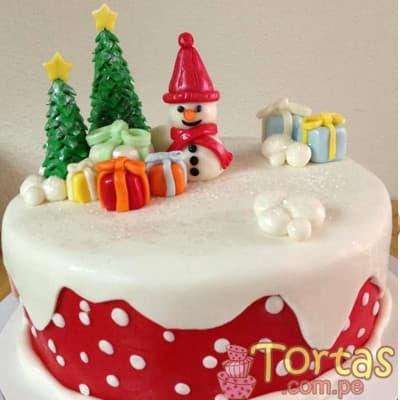 Torta de Navidad Arbolito y Muñeco de Nieve | Regalos de Navidad para sorprender - Cod:TNA09