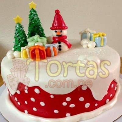 Torta de hombre nieve para Navidad | Regalos de Navidad para sorprender - Cod:TNA12