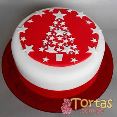 Tortas de Navidad | Torta Navidad redonda - Cod:TNA13