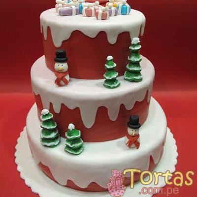 Torta arbol de Navidad de 3 pisos | Regalos de Navidad para sorprender - Cod:TNA14