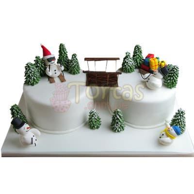 Torta para Navidad de  Muñeco de nieve - Cod:TNA15