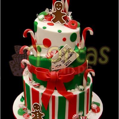 Torta de Navidad de Tres Pisos - Cod:TNA20