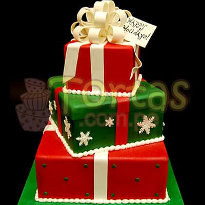 Torta Navideña de Tres Pisos | Regalos de Navidad para sorprender - Cod:TNA21