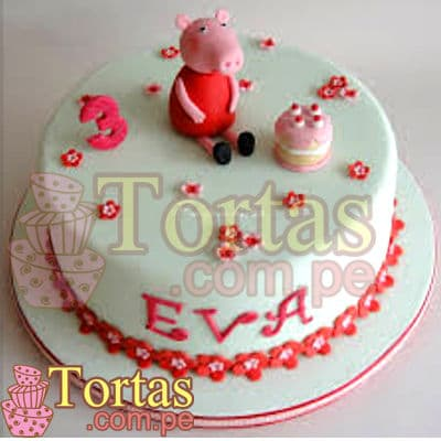Torta Peppa Pig mediana - Whatsapp: 980-660044
