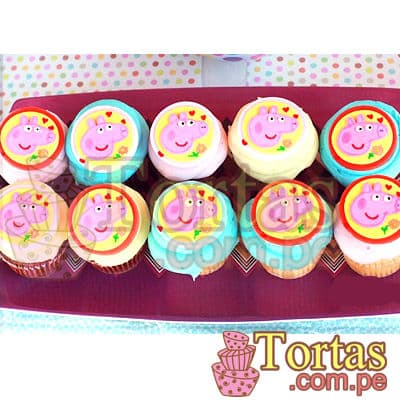 Cupcakes de Peppa Pig - Cod:TPE05